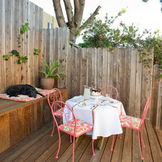 Eclectic Patio by Sarah Burke Design