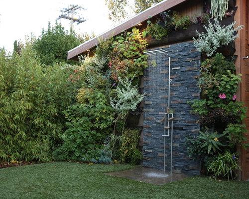moderner patio mit gartendusche - design-ideen & bilder - Gartendusche Ideen