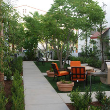 Mediterranean Patio by Sitescapes Landscape Architecture & Planning