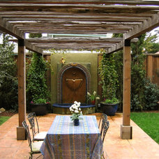 Mediterranean Patio by Kathleen Shaeffer Design, Exterior Spaces