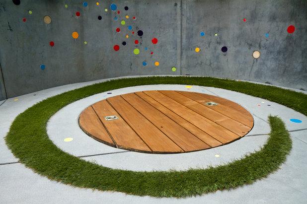 Современный Дворик by Kathleen Shaeffer Design, Exterior Spaces