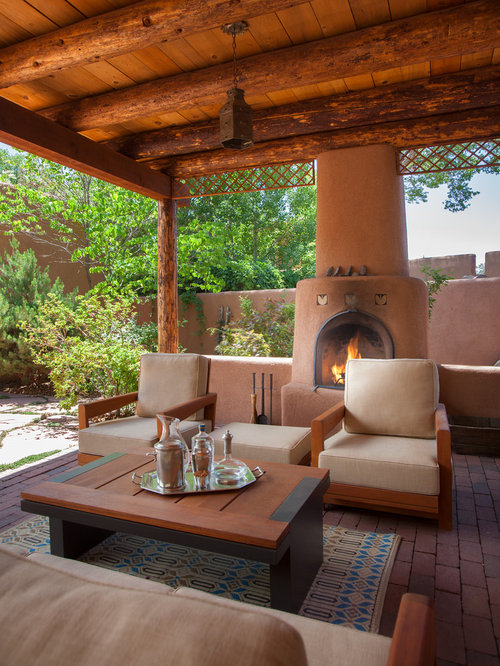 Southwestern outdoor design ideas remodel photos with a for Southwest pergola