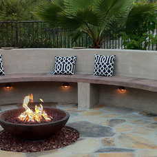 Mediterranean Patio by Jodie Cook Landscape Design