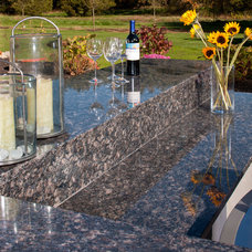 Modern Patio Sapphire Blue Granite Outdoor Counters