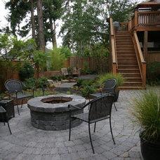 Asian Patio by Creative Garden Spaces