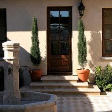 Mediterranean Patio by Francis Garcia Architect