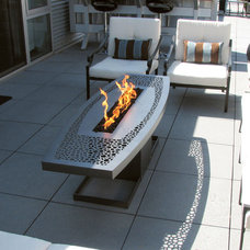 Contemporary Fire Pits by Aztec Artistic Productions
