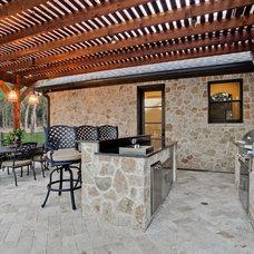 Mediterranean Patio by Sterling Brook Custom Homes