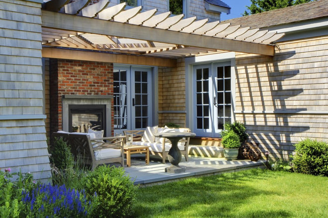 Transitional Patio by Shelter 7
