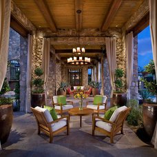 Transitional Patio by Vallone Design