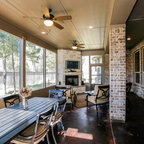 Indoor Outdoor Bar Rustic Patio Dallas By Wright Built