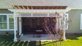 Screened Porch and Pergola Combo