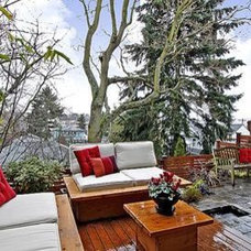 Modern Patio seattle fremont town house