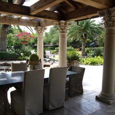 Mediterranean Patio by L3 Designs