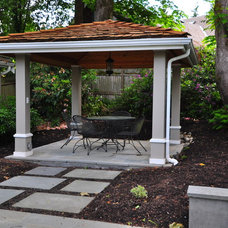 Traditional Patio by Sage and Stone