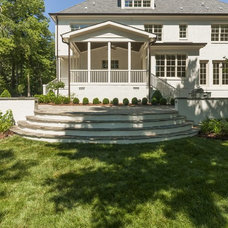 Transitional Patio by DJF Builders Inc