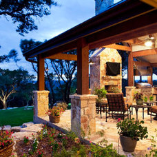 Traditional Patio by Hill Country Plans
