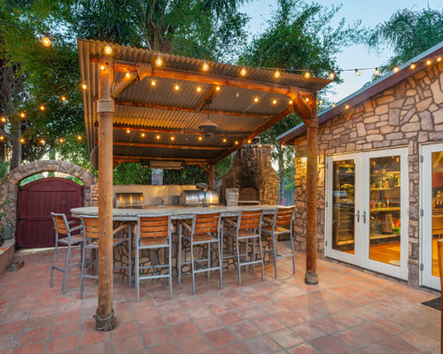 Best tropical patio design ideas remodel pictures houzz - Tropical outdoor kitchen designs ...