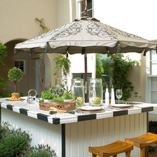 Eclectic Patio by CASA|WASY interior design, inc.