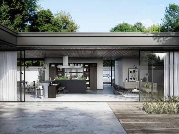 Modern Patio by SieMatic im Parktower