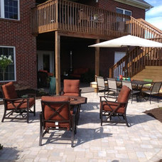 Transitional Patio by Inside Out Design, LLC