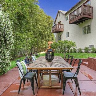Inspiration For A Transitional Side Yard Concrete Patio Remodel In Los  Angeles