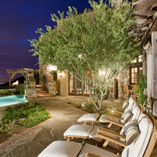 Mediterranean Patio by Tamm-Marlowe Design Studio