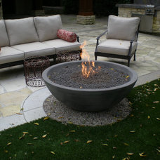 eclectic firepits by Concrete Creations