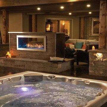Sleek Outdoor Fireplace - Napoleon Fireplace