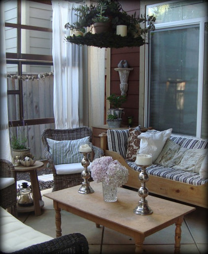 eclectic patio Sleeping Porch