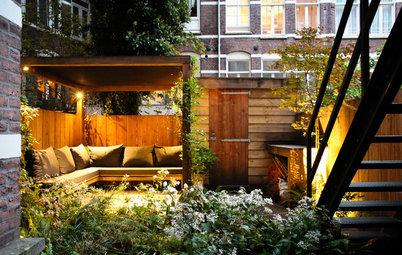 Nightfall Brings a Dutch Urban Garden to Life
