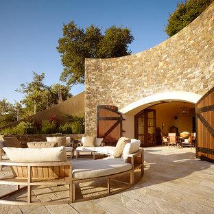 Patio - mediterranean patio idea in San Francisco with no cover