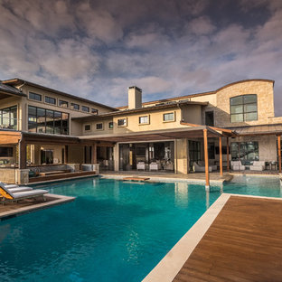 Inspiration for a huge contemporary patio remodel in Orange County