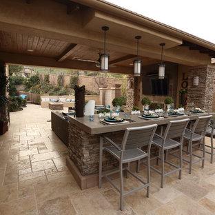 Idee per un patio o portico minimalista