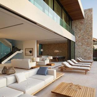 Imagen de patio actual sin cubierta