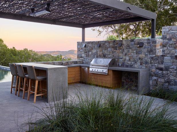 Contemporary Patio by ROCHE+ROCHE Landscape Architecture