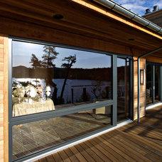 Contemporary Patio by Gaulhofer Windows