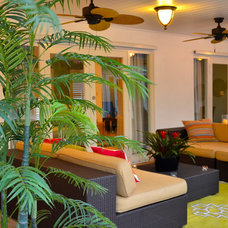 Tropical Patio by Interiors by Maite Granda