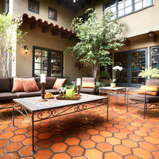 Mediterranean Patio by Mission Tile West