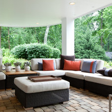 Contemporary Patio by Michelle Miller Interiors