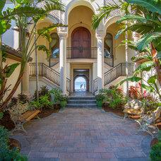 Mediterranean Patio by Las Casitas Architecture & Interiors, Inc.