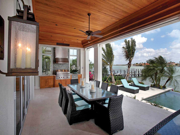 Tropical Patio by Windover Construction