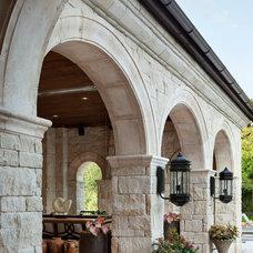 Mediterranean Patio by JAUREGUI Architecture Interiors Construction