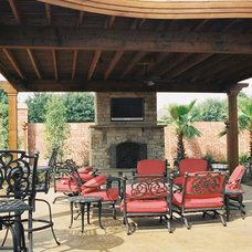 Eclectic Patio by Southwest Fence & Deck