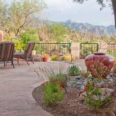 Southwestern Patio by Boxhill Design