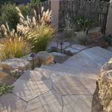 Mediterranean Patio by Clemens & Associates Inc.