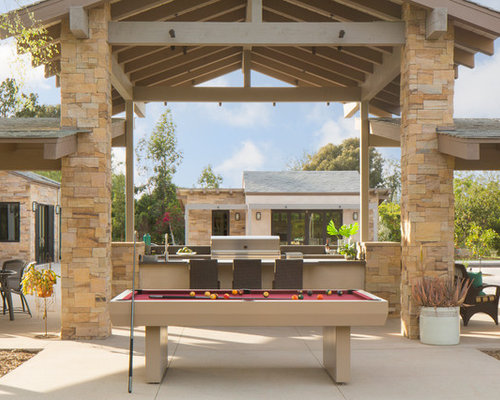 example of a southwest backyard patio design in san diego with concrete slab and a gazebo - Outdoor Kitchen Pictures Design Ideas
