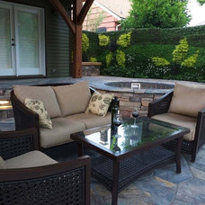 Contemporary Patio by Bright Green