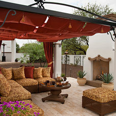 Mediterranean Patio by Matthew Thomas Architecture, LLC