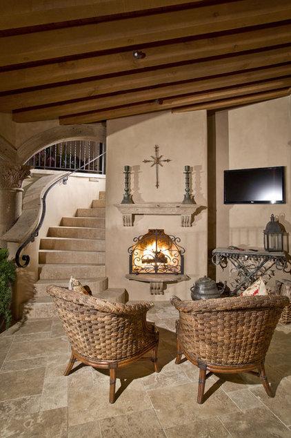 Mediterranean Patio by Candelaria Design Associates